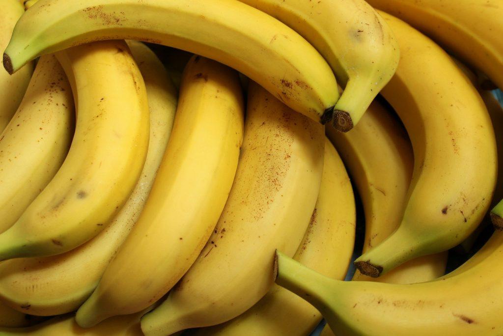 Pile of bananas.