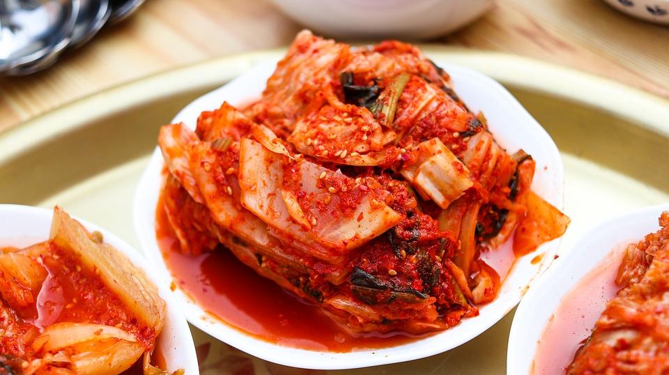 Kimchi in small bowl.