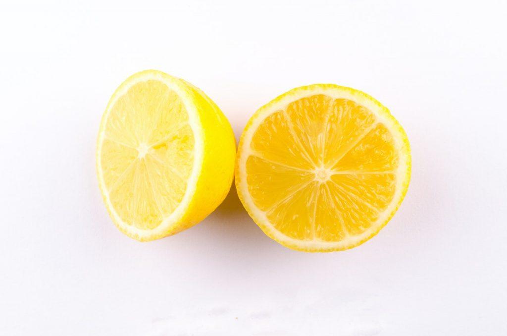 Lemon cut in half.