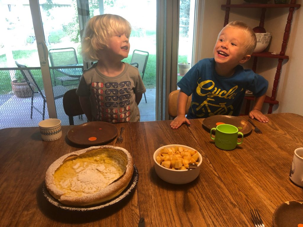 Kids eating-serving safe foods to young children