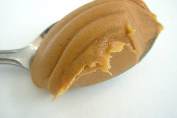 Spoonful of creamy peanut butter