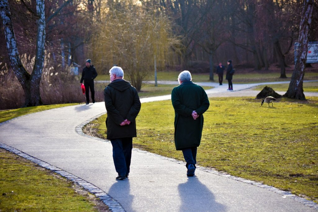 Older adults walking