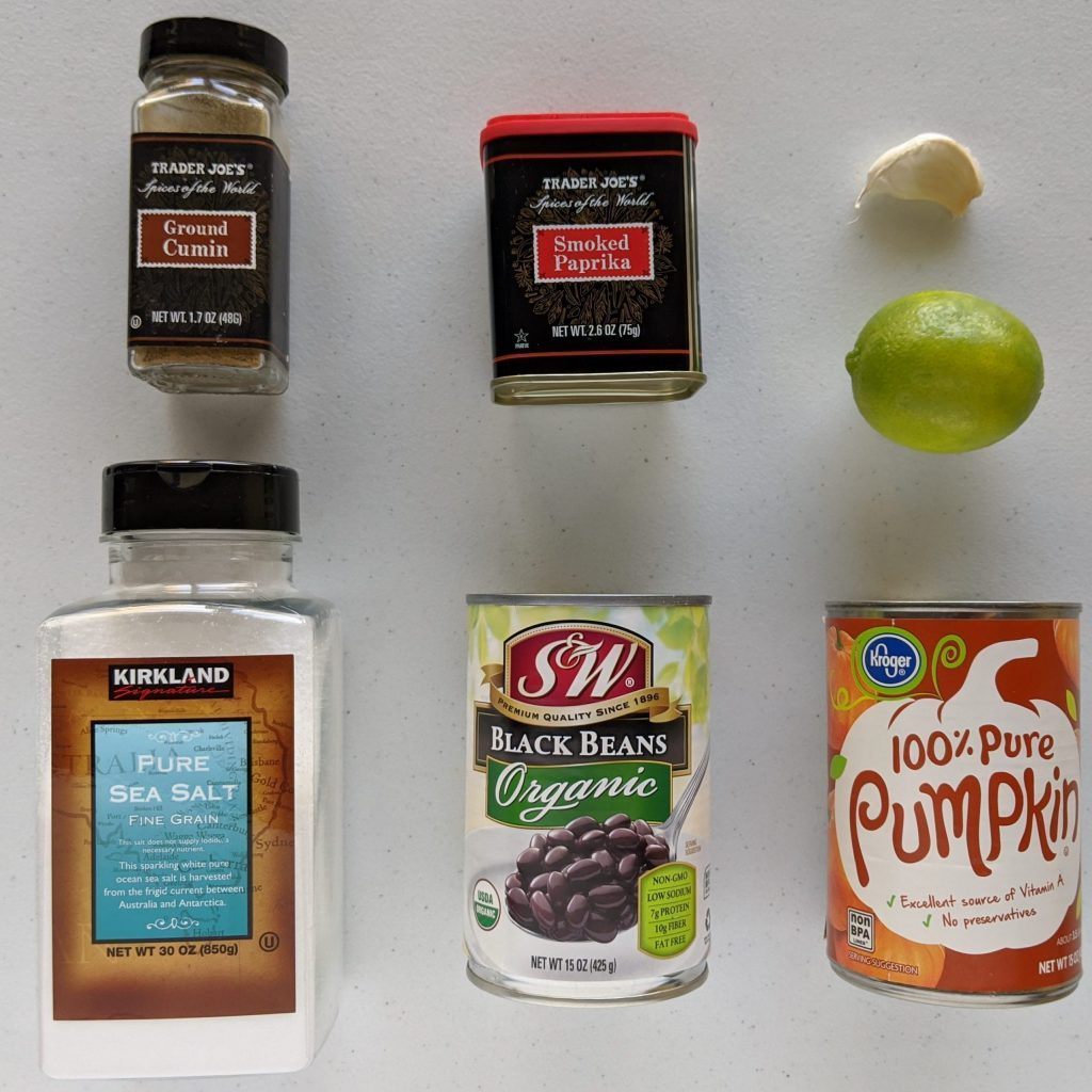 Pumpkin Bean Dip Ingredients
