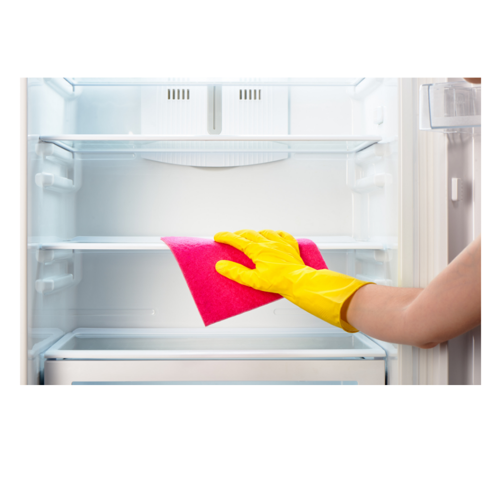 Cleaning refrigerator shelves