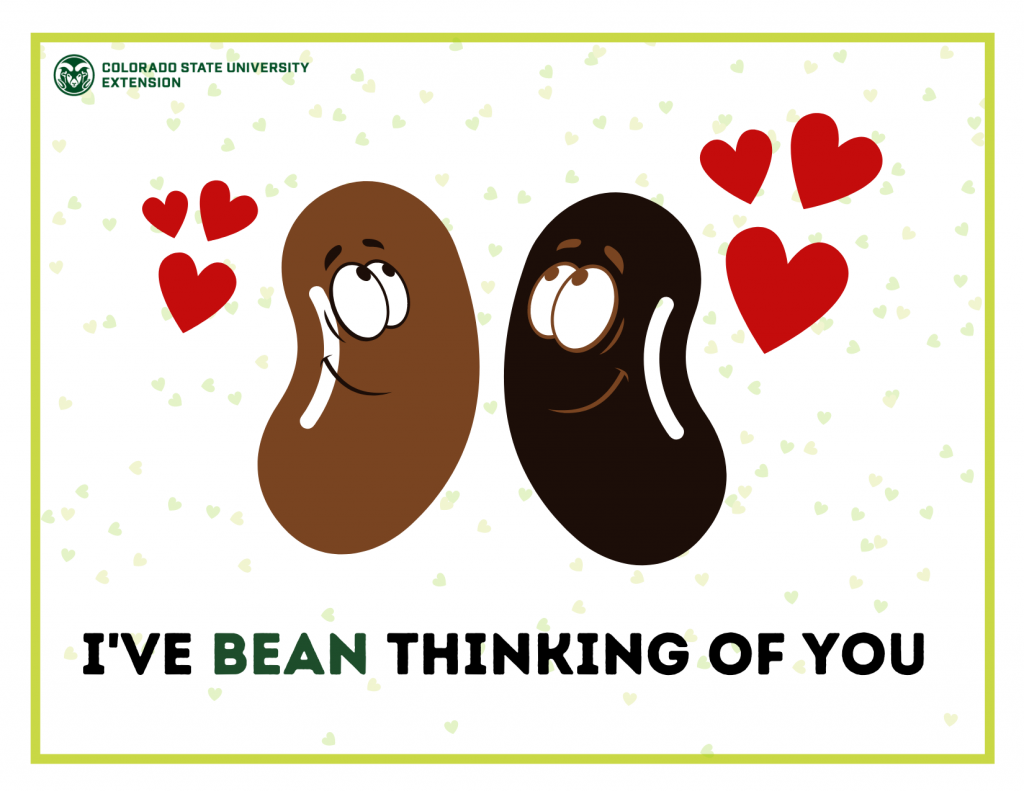 Valentine's Day Food Pun - Beans